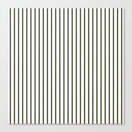 Garden Boot Grey Pinstripe on White Canvas Print