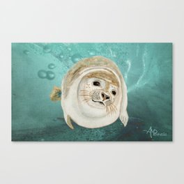 Sea Lion Swimming Canvas Print