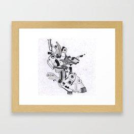 metal elbow Framed Art Print