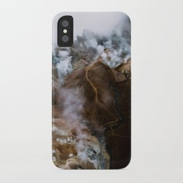 Kerlingarfjöll mountain range in Iceland - Aerial Landscape Photography iPhone Case