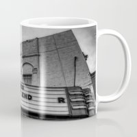 theatre Mugs featuring The Texas Theatre by Mark Alder
