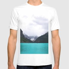 Lake Louise White MEDIUM Mens Fitted Tee