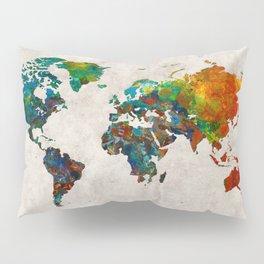World Map 61 Pillow Sham