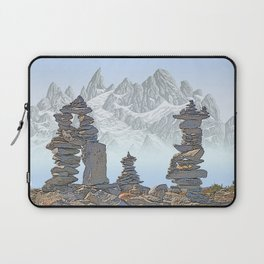 STONE KIRNS AND MOUNTAIN PEN DRAWING Laptop Sleeve