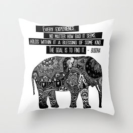 Blessing Buddha Quote Throw Pillow