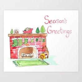 Season's Greetings! Art Print
