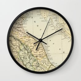 Retro & Vintage Map of Northern Italy Wall Clock