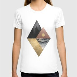Night and Day Modern Scandinavian Abstract T-shirt