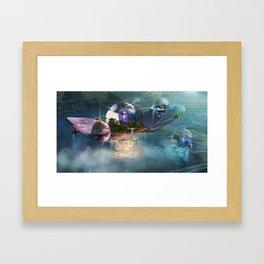 Floating residences Framed Art Print