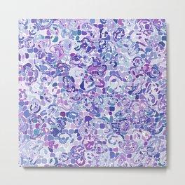 Blue and Purple Blobs Metal Print
