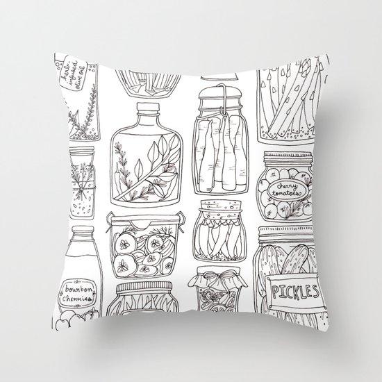 Pickles Print Throw Pillow