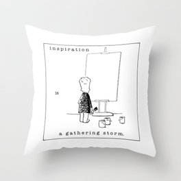 inspiration is a gathering storm Throw Pillow