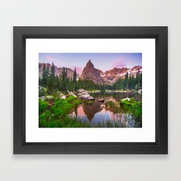 Lone Eagle Peak Framed Art Print