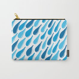 monochromatic blue aqua turquoise navy teal sapphire Carry-All Pouch