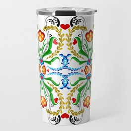 Scandinavian Folk Art ~ Tulip Mosaic Travel Mug