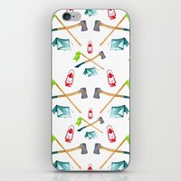 camping iPhone & iPod Skins featuring Camping by Whimsy Milieu