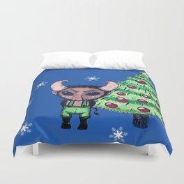 Krampus the Christmas Devil Duvet Cover