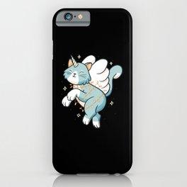 Funny unicorn cat cartoon funny kitten xmas iPhone Case