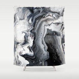 Marble B/W/G Shower Curtain