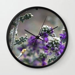 Purple Plant Wall Clock