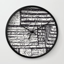 Abstract Composition 20 Wall Clock