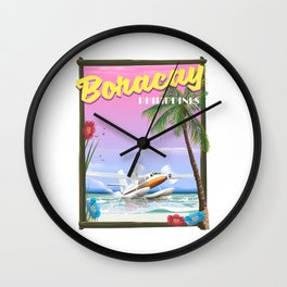 Boracay Philippines beach Wall Clock