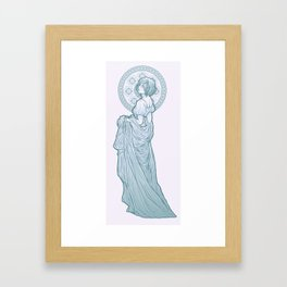 with ribbons and curls Framed Art Print