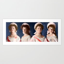 OTMA 1910 Formals - Colorized Art Print