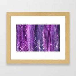 Under The Purple Sea Framed Art Print
