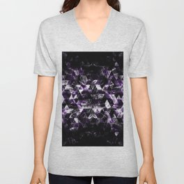 Triangle Geometric Purple Smoky Galaxy Unisex V-Neck
