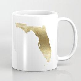 Florida Gold foil map Coffee Mug