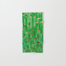 Green Marble Skyscrapers Hand & Bath Towel