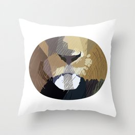Lion Mouth Abstract Throw Pillow