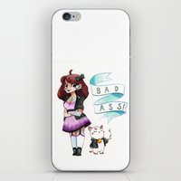 puppycat iPhone & iPod Skins featuring Badass Bee and Puppycat by Shelleyboh