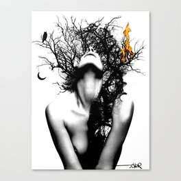 WISDOM AND FIRE Canvas Print