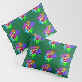 Lion Pattern Wpap Style Green background Pillow Sham