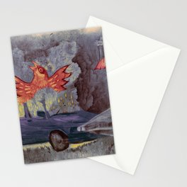 phenix in an old car Stationery Cards