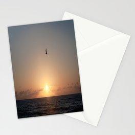 flight over ocean sunrise Stationery Cards