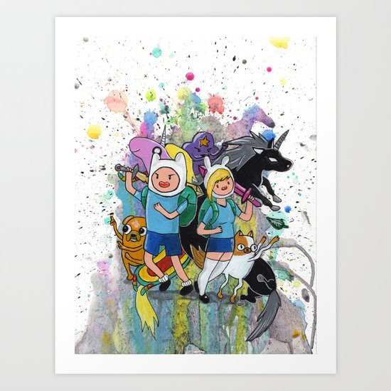 It's Time... It's ADVENTURE TIME Art Print