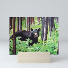 Bear in the Woods Mini Art Print