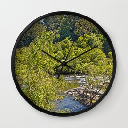 A glimpse of the beautiful river Wall Clock