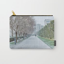 Snowfall on Parc AndreCitroen in Paris Carry-All Pouch
