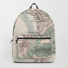Vintage Map of South America (1858) Backpack