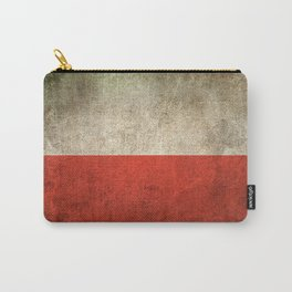 Old and Worn Distressed Vintage Flag of Poland Carry-All Pouch