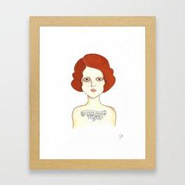 Ginger Pride Framed Art Print