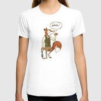 mr fox T-shirts featuring Mr. Fox by Drew Brockington