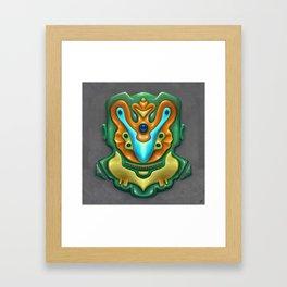 Summer Totem Green Framed Art Print