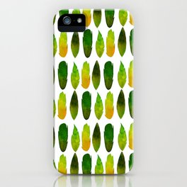 Green-yellow feathers iPhone Case