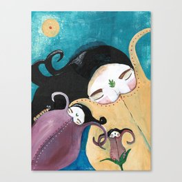 Sleeping Bhoomies Canvas Print