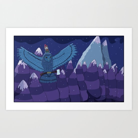 Lumber Owl Art Print